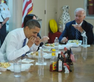 OBAMA EATS GABAGOOL with JOE BIDEN