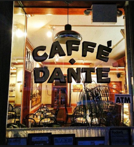 "CAFFE DANTE ""GREENWICH VILLAGE""  NEW YORK For WORLD CUP SOCCER 2014"